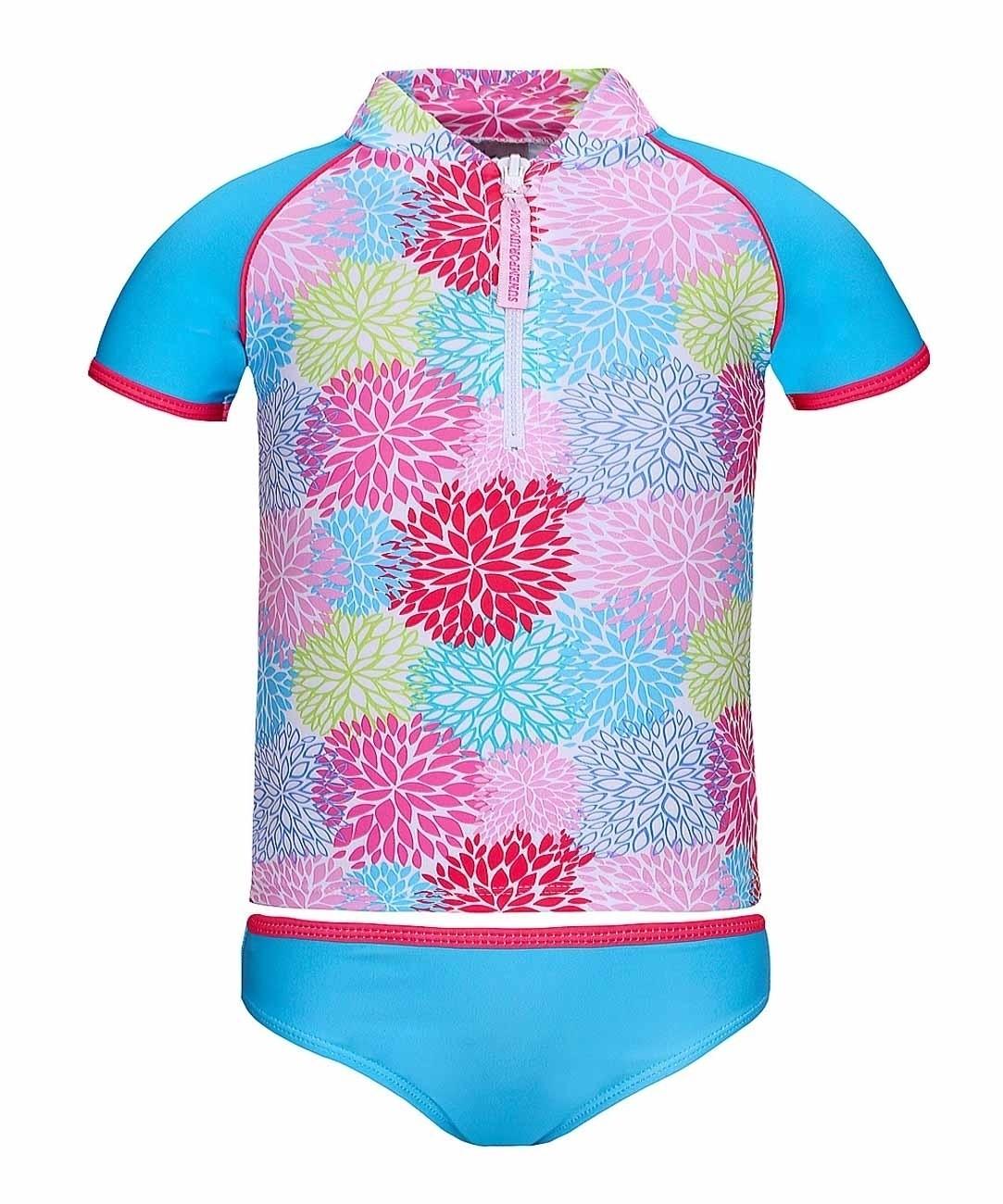 Girls rash shirt front zip bikini set for What is a rash shirt