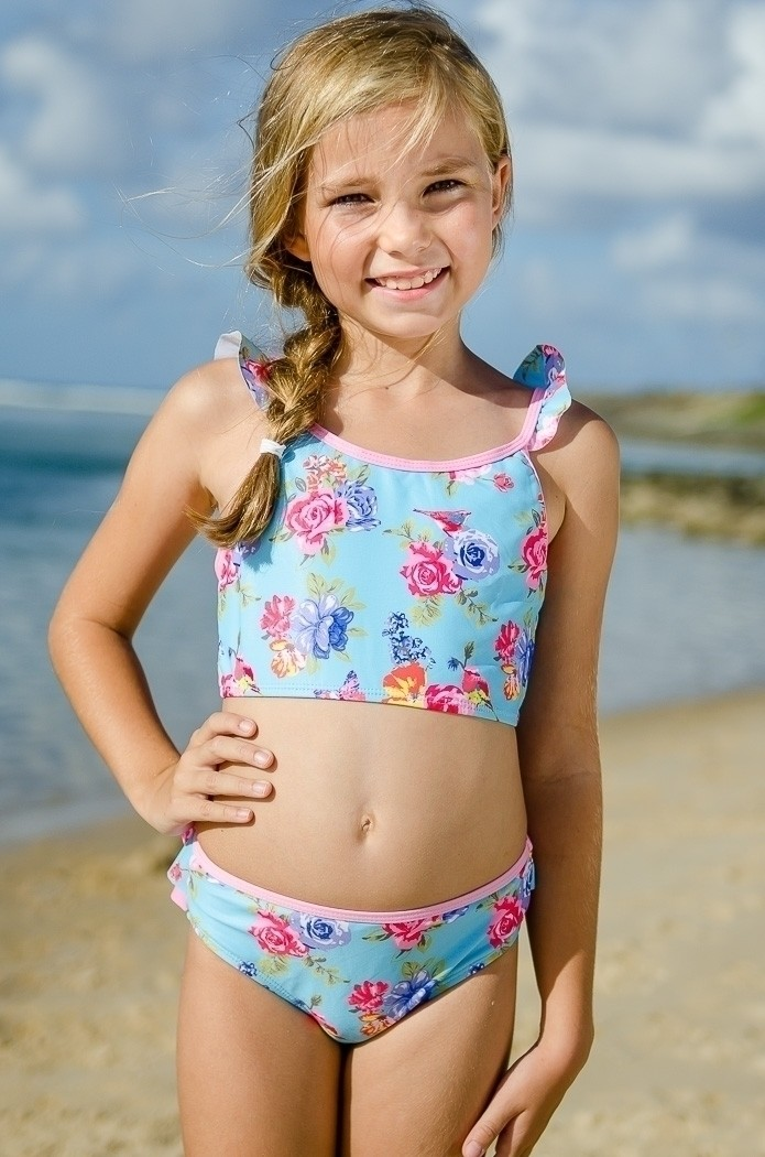 Girls Crop Top Amp Bikini Set